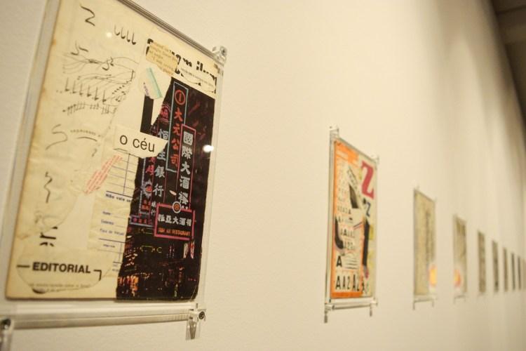Colagens em exposição