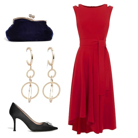 accesorii-negre-rochie-rosie