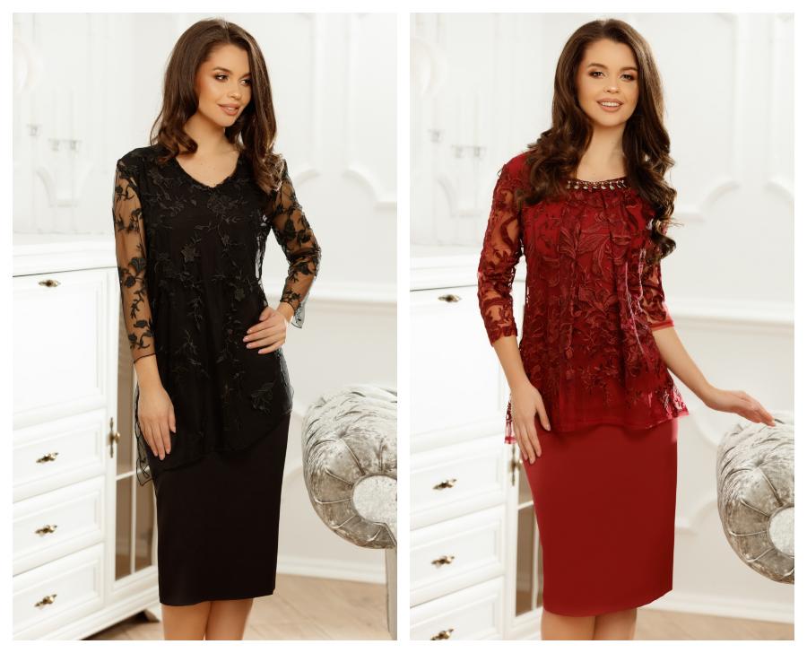 modele-rochii-negre-grena-de-ocazie-elegante-online
