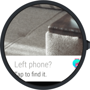 Android wear - find my phone