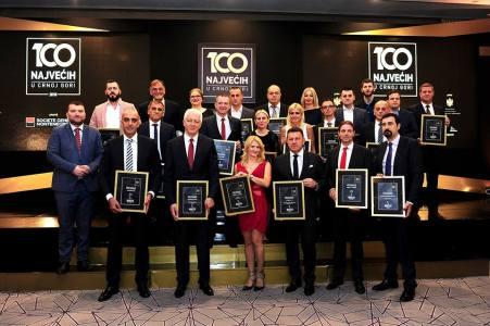 Dodjela priznanja 100 najvecih u Crnoj Gori