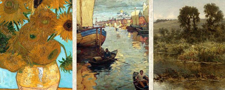 Образцы картин мастеров прошлого и настоящего века