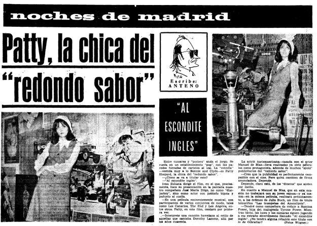 Rodaje de 'Un, dos, tres... al escondite inglés' en el diario Madrid (1968)
