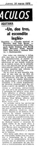 Reseña en Mundo Deportivo (26 de febrero de 1970)