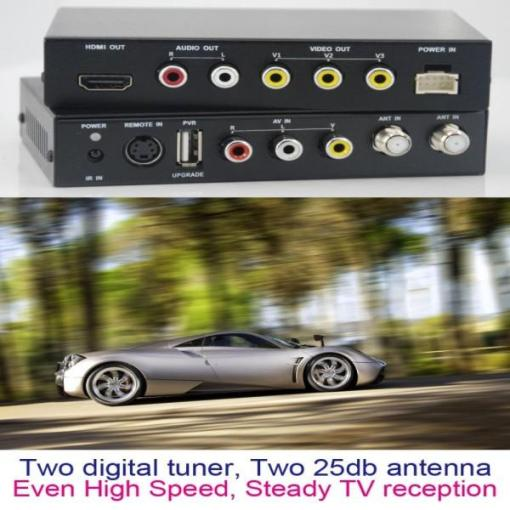 DVB-T2100HD Car DVB-T MPEG4 H.264 tv receiver with 2 tuner PVR USB Record 5
