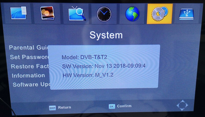 DVB-T24 system information