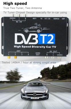 2 antenna car DVB-T2 Two tuner tv Diversity USB HDMI HDTV High Speed dvb-t22 9