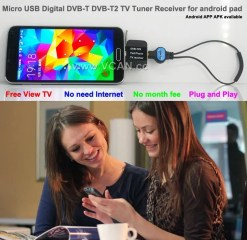 Mobile Phone DVB-T2 TV stick Tuner Receiver Micro USB for android pad digital 10