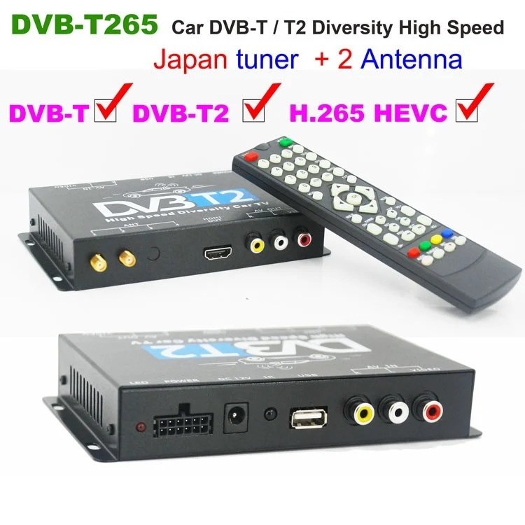 Deutschland Car DVB-T2 H265 4 Tuner 4 Diversity Antenna mobile High Speed digital receiver 1
