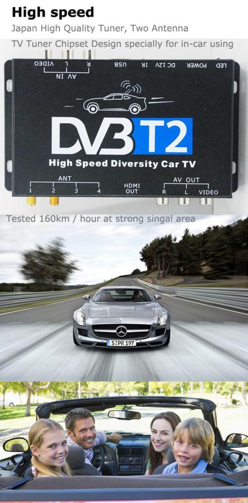 Deutschland DVB-T2 H265 Codec HEVC Freenet 2017 Neues Modell DVB-T265 auto mobile digitale Auto DVB-T2-TV-Empfänger 6
