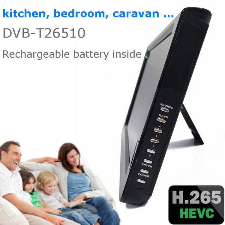10 DVB-T2 H265 HEVC AC3 Codec Portable TV PVR Multimedia Player Analog kitchen bedroom car DVB-T26510 13