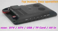 7 inch ISDB-T Digital ISDBT TV HD MPEG4 FULL SEG Analog TV USB TF MP5 player AV input Rechargeable Battery 11