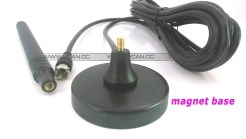 ISDB-T DVB-T2 ATSC Digital TV Antenna with magnet base aerial with signal enlarger MHZ860 Vcan1065 SMA F type IEC MCX 7
