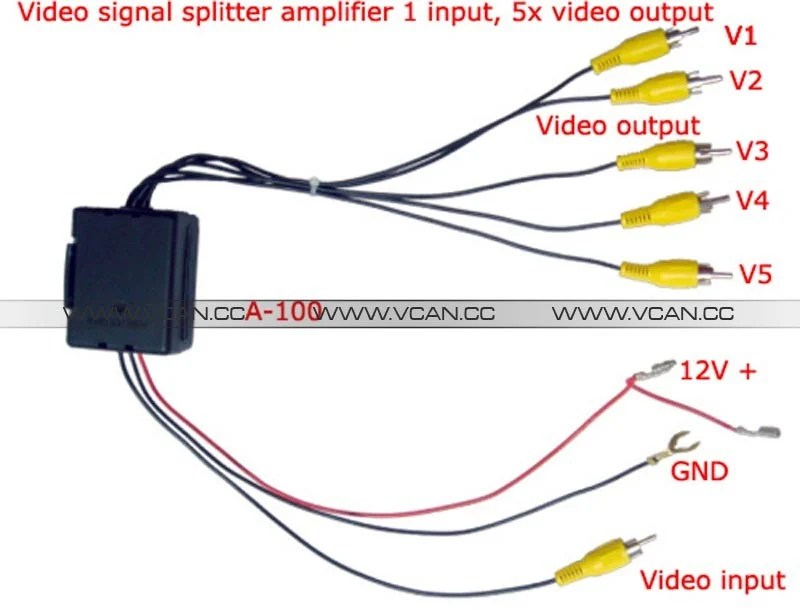Video Distribution Video Signal Booster splitte