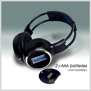WL-2008 car wireless IR stereo TV headphone infrared headset with TV, VCR, VCD, DVD or audio system 1