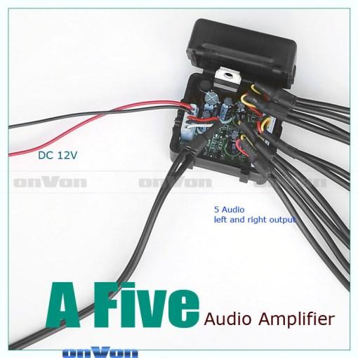 Audio Distribution signal Splitter Amplifier distribute 5 Output 3