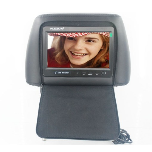 7 inch headrest monitor with pillow bag LED backlight cover zipper 4