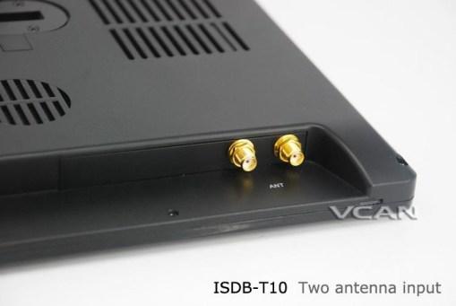2 tuner 2 antenna isdb-t digital tv receiver 10.1 inch full segment digital TV receiver for Japan mini b-cas card reader high speed moving 8