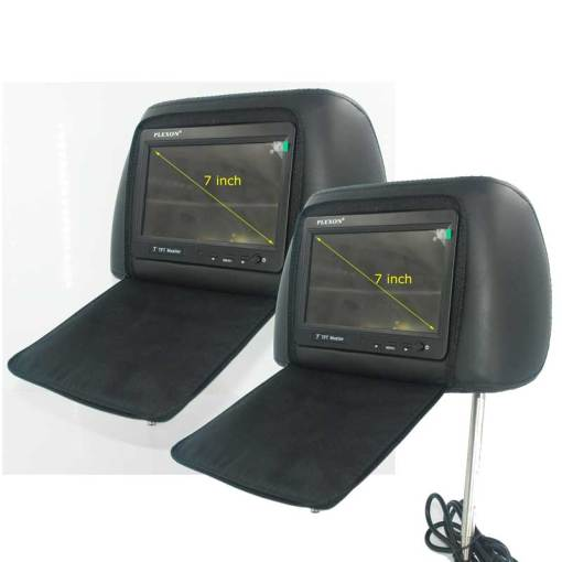 7 inch headrest monitor with pillow bag LED backlight cover zipper 2