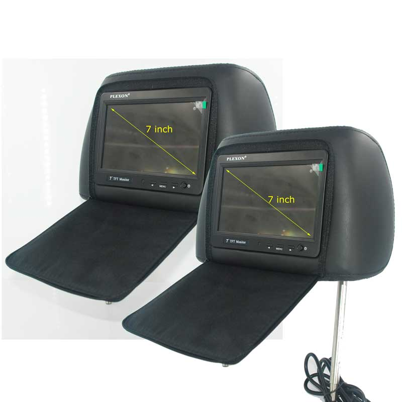 7 inch headrest monitor with pillow bag LED backlight cover zipper 15