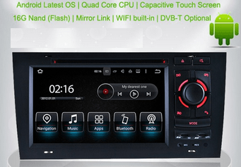 7' Android 5.1 Car navigation GPS DVD Head unit for AUDI A6 /S6/RS6 (1999-04) - OBD DAB Quad Core 16G HD 1080P VCAN1473 1