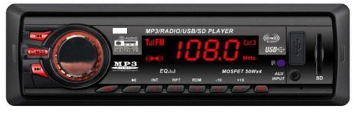 One din car radio with USB bluetooth 1