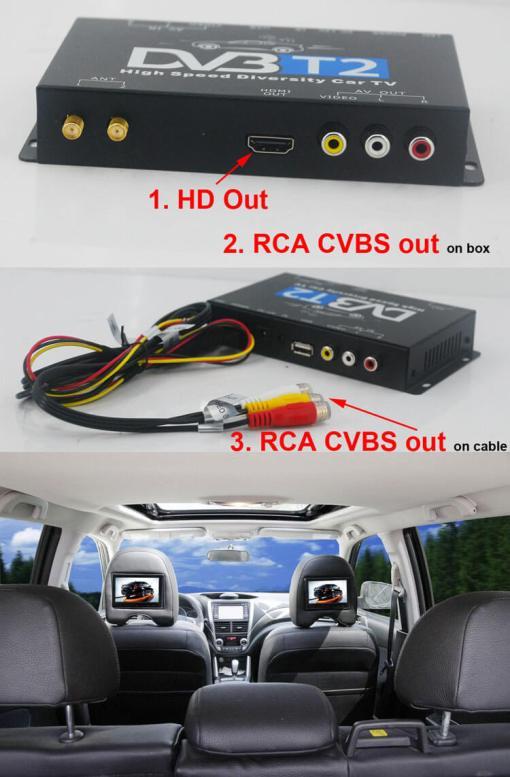 Germany DVB-T2 H265 HEVC 2017 New Model DVB-T265 automobile digital car dvb-t2 tv receiver 9