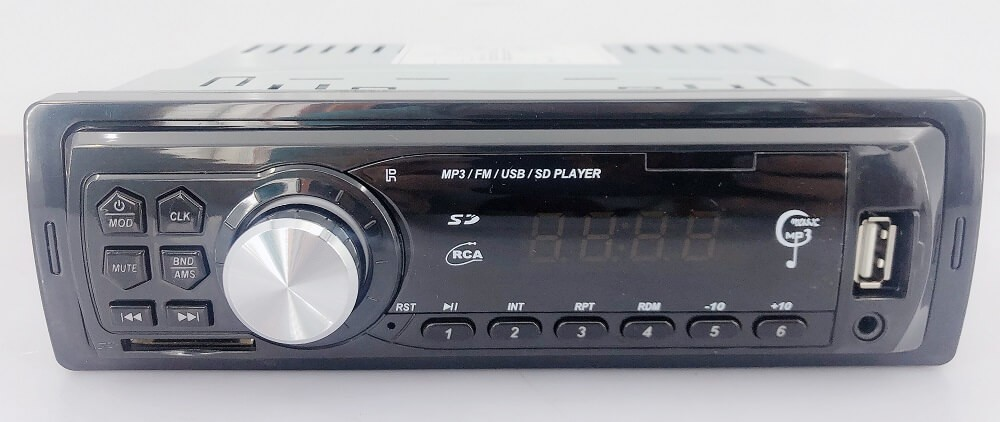 In dash One din Car USB SD MP3 player FM radio AUX audio input 8