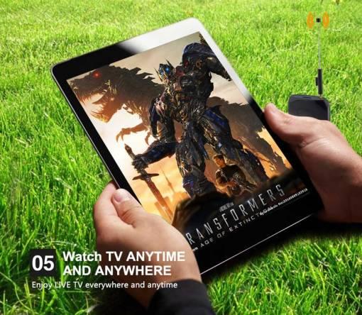 WiFi-TV1W digital TV wifi receiver dvb-t isdb-t for smartphone no need internet 6