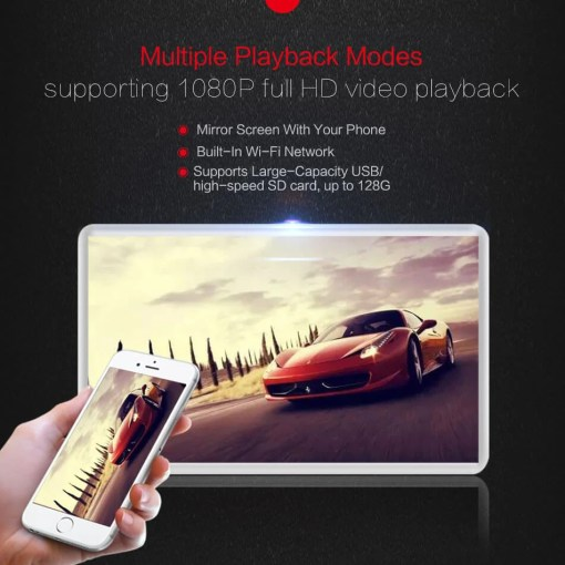 Android Headrest Player 11.6 inch IPS HD Monitor With WiFi Speaker Bluetooth FM transmitter Seat Touch Screen 12V 2PCS Pair 10