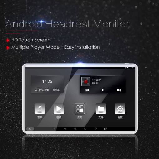 Android Headrest Player 11.6 inch IPS HD Monitor With WiFi Speaker Bluetooth FM transmitter Seat Touch Screen 12V 2PCS Pair 4