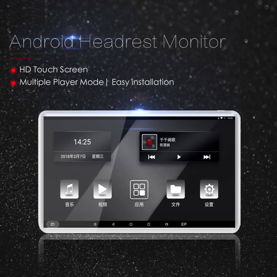 Android Headrest Player 11.6 inch IPS HD Monitor With WiFi Speaker Bluetooth FM transmitter Seat Touch Screen 12V 2PCS Pair 20