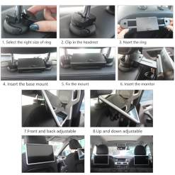 Android Headrest Player 11.6 inch IPS HD Monitor With WiFi Speaker Bluetooth FM transmitter Seat Touch Screen 12V 2PCS Pair 14