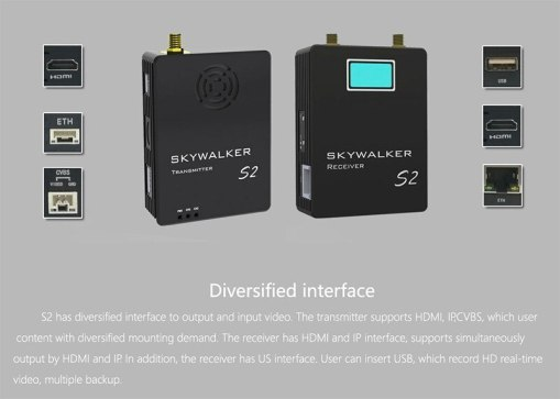 COFDM Digital Video Transmitter Receiver wireless HD video transmitter TX UX for UAV 2