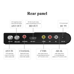 ATSC T terrestrial digital HD TV receiver work at USA Canada Mexico Korea tuner ATSC-T atsc t standard 7