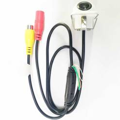 small straw hat rearview camera with 3 switches cuttable cable for parking guideline on/off, horizontal mirror on/off, vertical mirror on/off 11