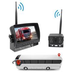 7 inch quad monitor wireless camera DVR for auto mobile truck Vehicle screen rear view monitor reverse backup recorder wifi camera