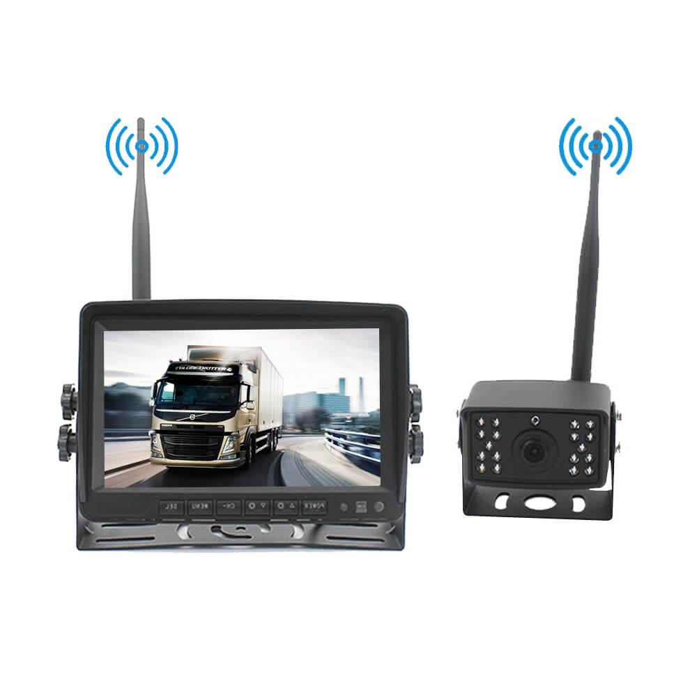 7 inch quad monitor wireless camera DVR for auto mobile truck Vehicle screen rear view monitor reverse backup recorder wifi camera 27