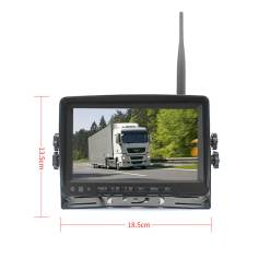 7 inch quad monitor wireless camera DVR for auto mobile truck Vehicle screen rear view monitor reverse backup recorder wifi camera 20