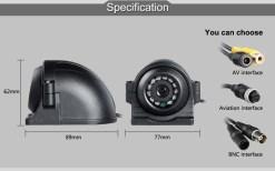 12V 4 Pin Metal IR Night Vision Waterproof Car Rear Side Front View Reverse Backup Camera for Bus Truck Van 7