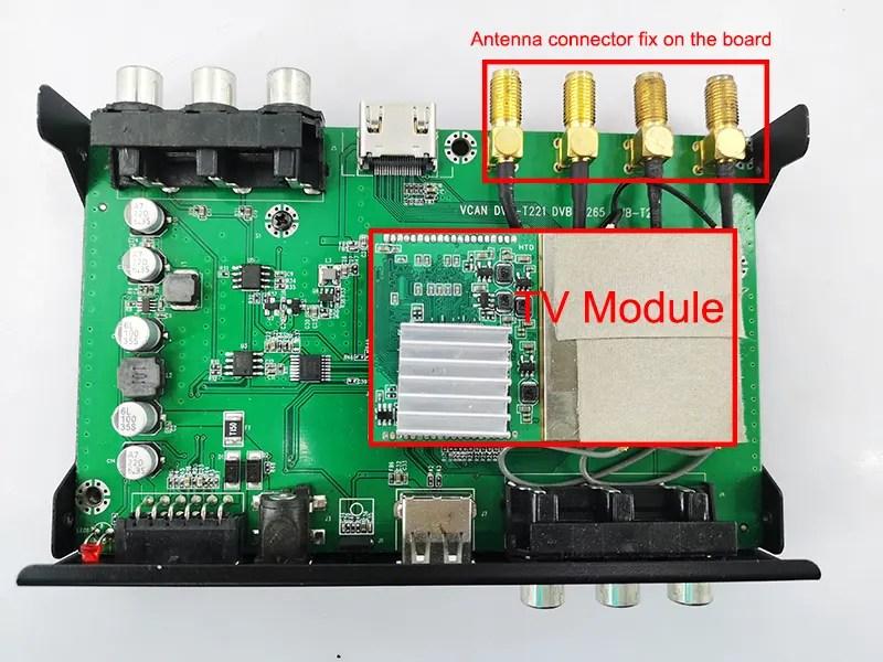 4 Antenna Car DVB-T2
