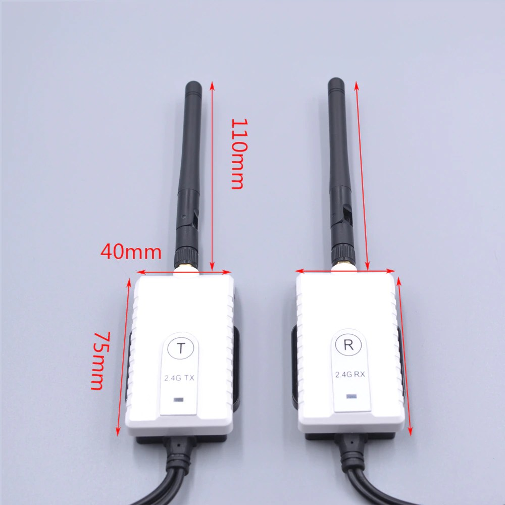 2.4G Wireless Video transmitter Receiver for camera of Truck Bus vehicle rearview camera transmission transceiver Vcan1603 5