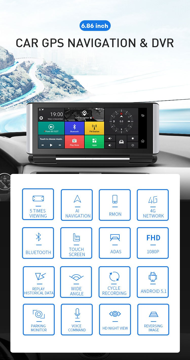 4G-DVR-Android-8-WIFI-GPS-Car-rearview-camera
