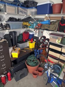 Messy Garage Storage
