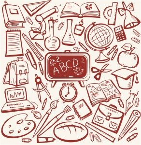 School and education sketch set