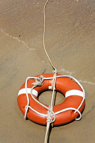 Life buoy with rope a great image for your job.