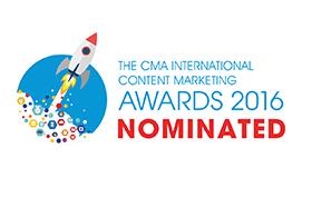 The CMA Content Marketing Award 2016 Nominated