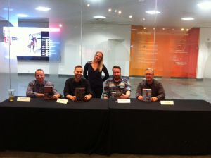 Here we are after the book signing