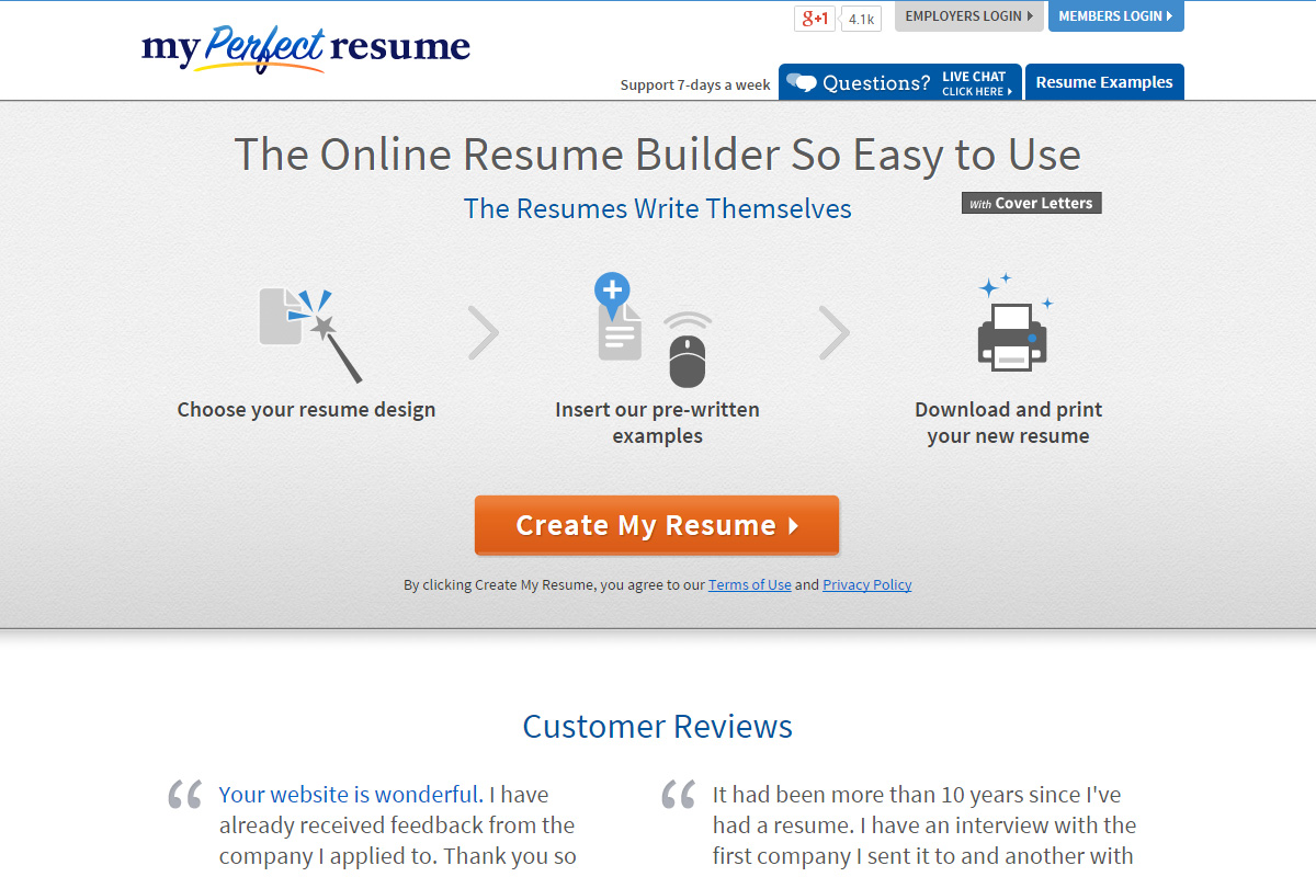 An internet connection can be unpredictable at times, and a sudden drop of the connection while downloading a large file can be frustrating. My Perfect Resume Iversen Design