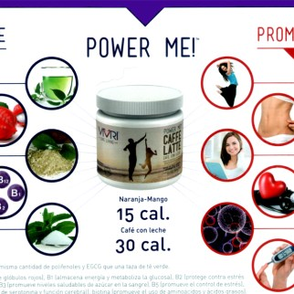 """El """"POWER ME"""" es un jugo o café con leche que nos da da LA PILA de forma natural para andar activo, concentrado y enfocado durante el día."""